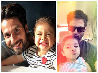 Adorable pics of Misha with father Shahid