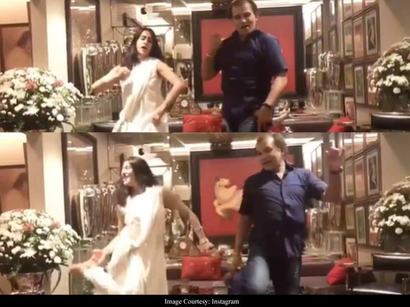 This RARE video of Sara Ali Khan rehearsing to 'Saat Samundar Paar' is all things entertaining!