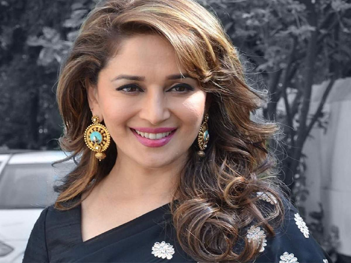 Madhuri Dixit shares a portrait of 'calm before the storm'   Hindi ...