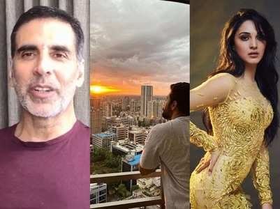 Celebs share picturesque sunset amid clouds