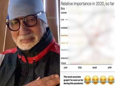 Big B shares the 'accurate graph of the year'