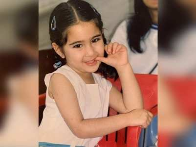 Cutest childhood picture of Sara Ali Khan
