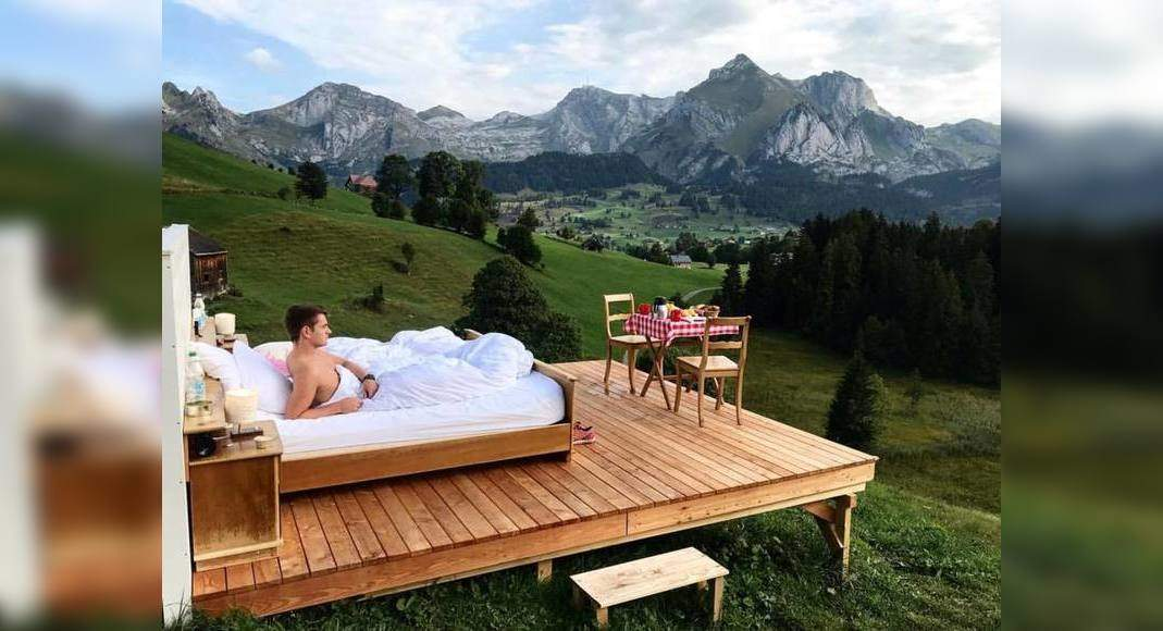 These open air hotel rooms in Switzerland are just breathtaking