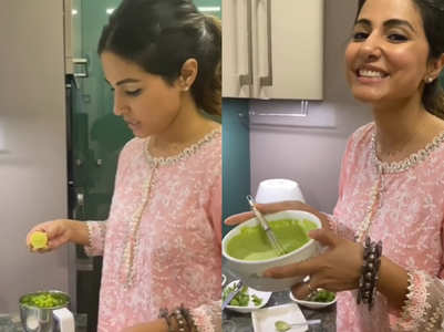 Hina Khan shares recipe of green chutney