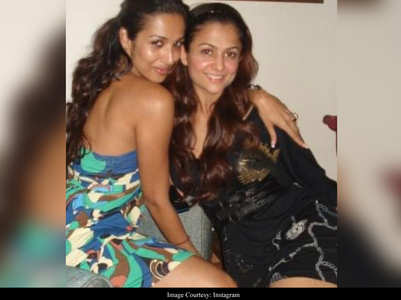 Malaika shares a throwback pic with Amrita