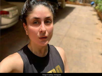Kareena Kapoor posts a pre-workout selfie