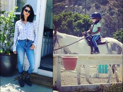 Sunny takes Nisha to her first riding lessons