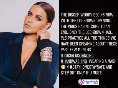 Neha on lockdown coming to an end