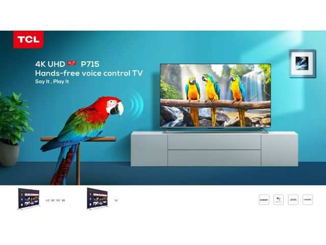 TCL launches 4K Android-powered TVs with pop-up camera