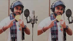 Pradeep Pandey Chintu records two songs for his upcoming movie 'Dostana'