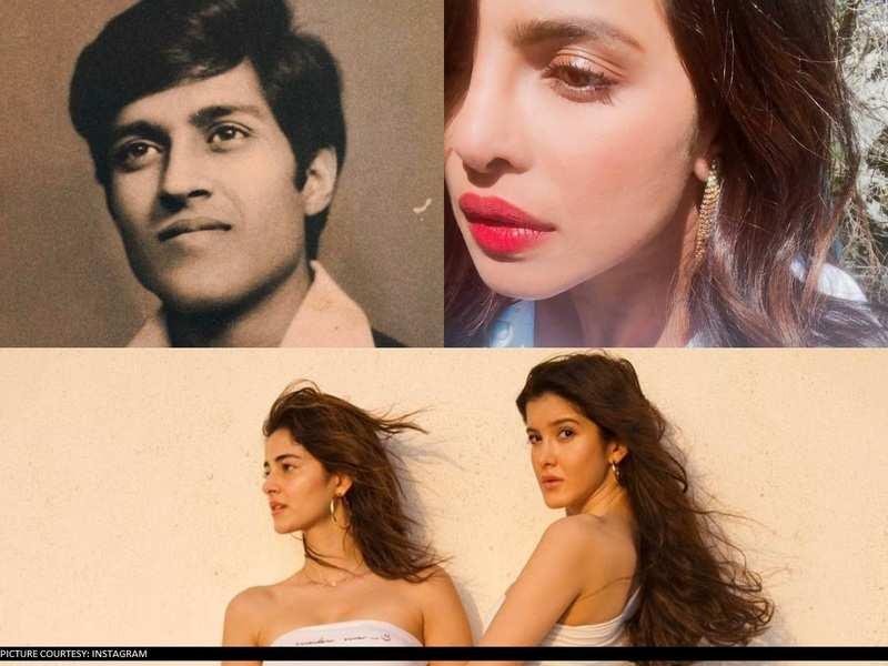 Priyanka Chopra Jonas sharing old pic of her dad to Ananya Panday's clicks with Shanaya Kapoor: Viral posts of the week