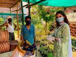 Vartika Singh distributes essentials and spreads awareness regarding Covid-19