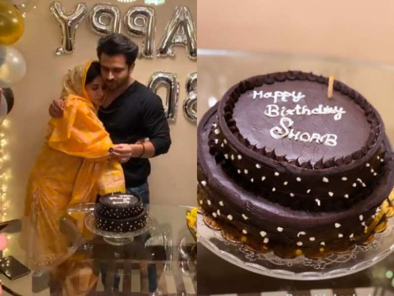 Dipika Kakar bakes a two-tiered chocolate cake for hubby Shoaib's birthday; watch their LIVE celebration at midnight
