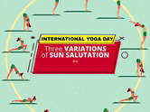 Three variations of a Sun Salutation