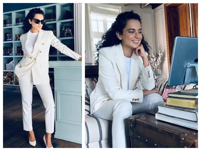 Kangana Ranaut looks like a vision in white in her latest pictures as she gears up for the online inaugural of Cannes 2020