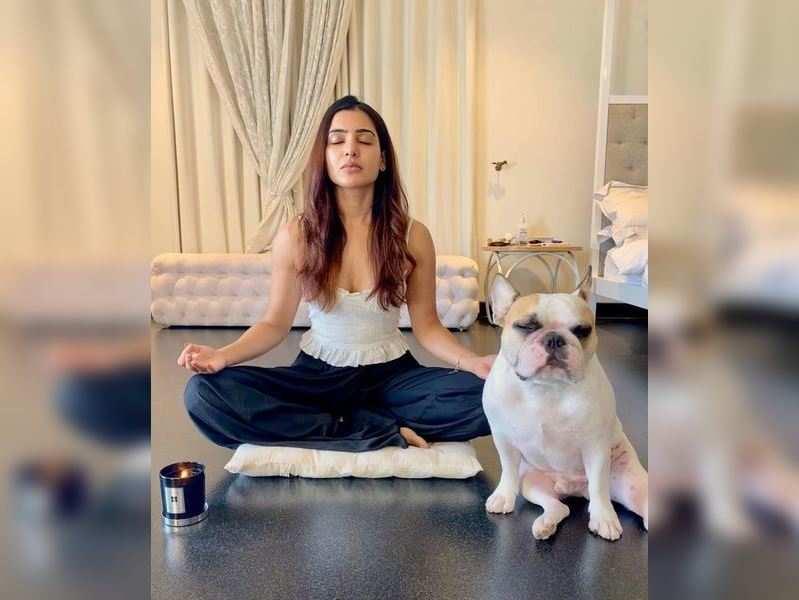 Samantha takes up Isha Kriya journey