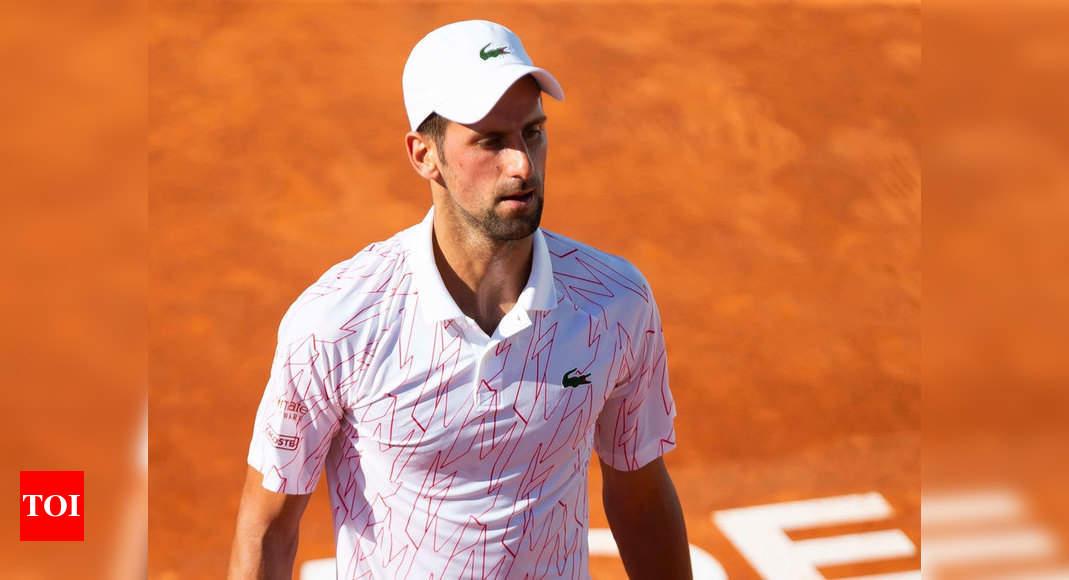 Novak Djokovic Tests Positive For Covid 19 Tennis News Times Of India