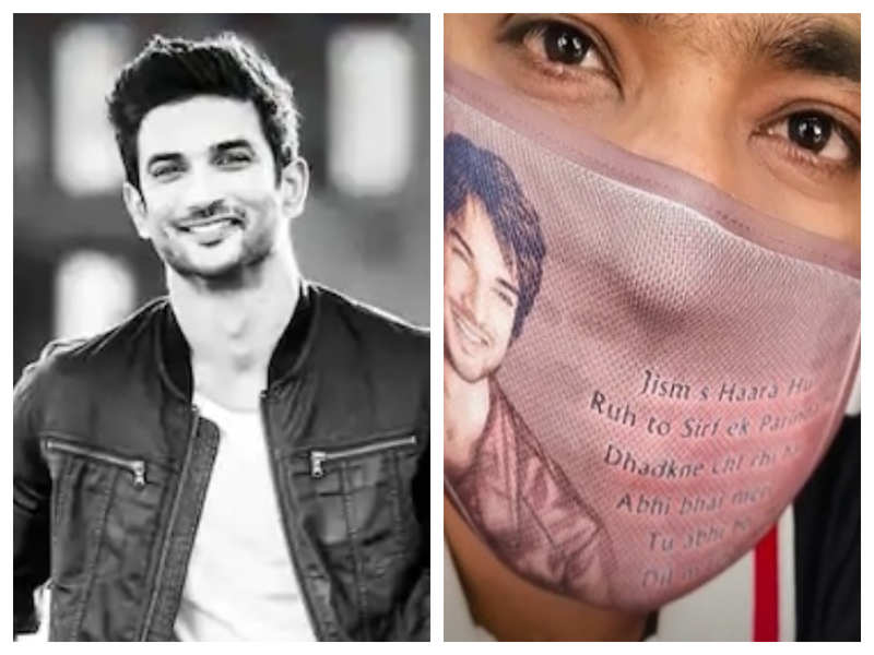 Sushant Singh Rajput's fan distributes customised masks with the actor's photo and a heart-touching message on it