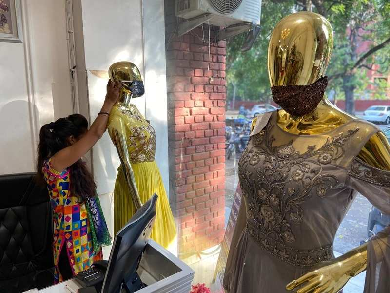 A designer store in Chandigarh has a wide range of catchy masks