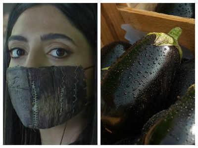 Chef creates sustainable face masks using eggplant skin