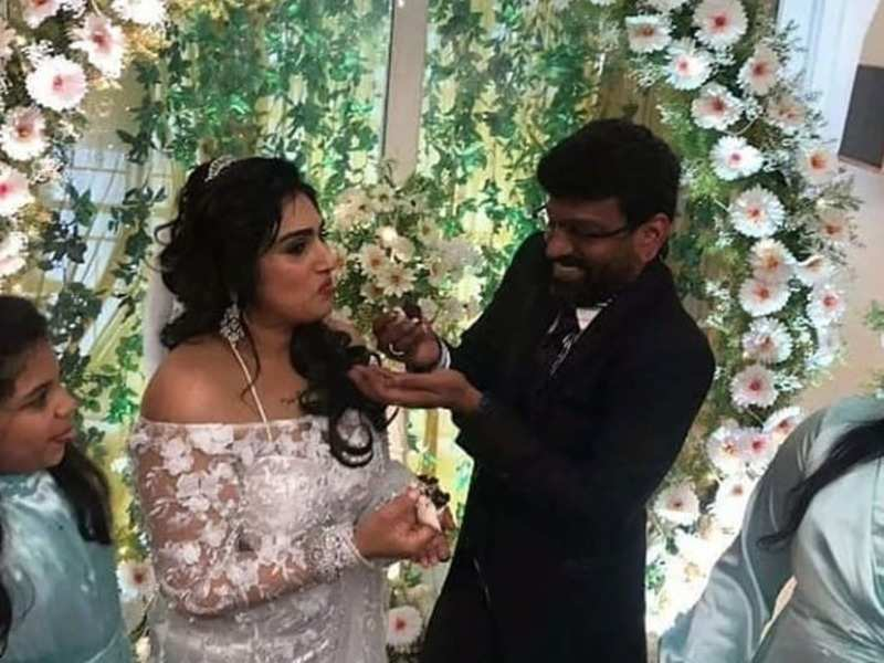 Bigg Boss Tamil fame Vanitha Vijaykumar gets married to Peter Paul; See pics