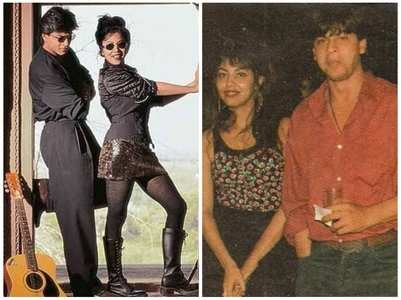 Priceless moments of SRK & Gauri from '90s