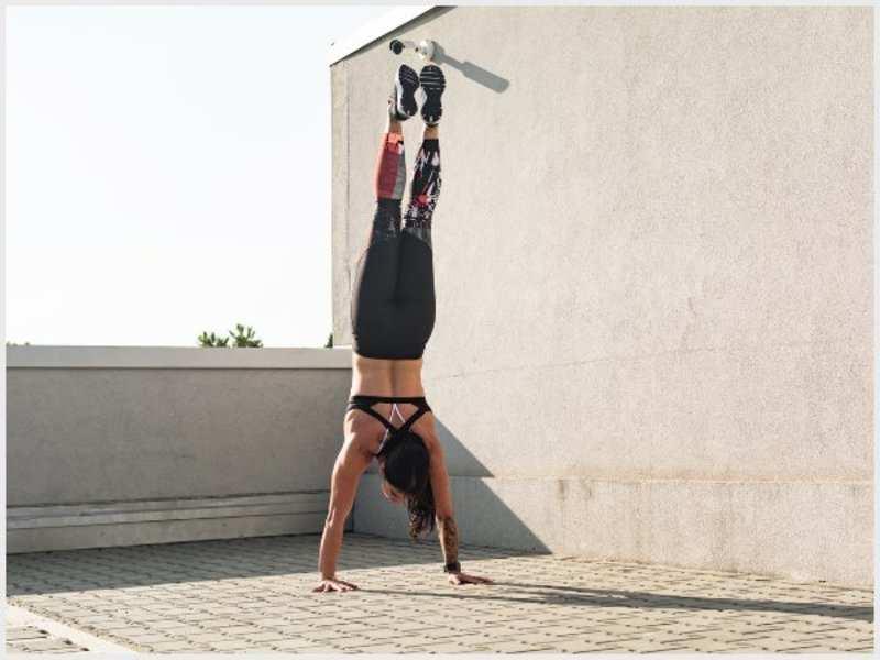 Doing a handstand