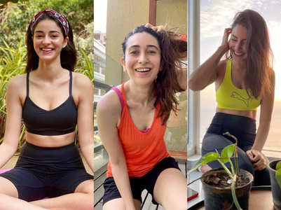 Bollywood celebs sporting athleisure at home