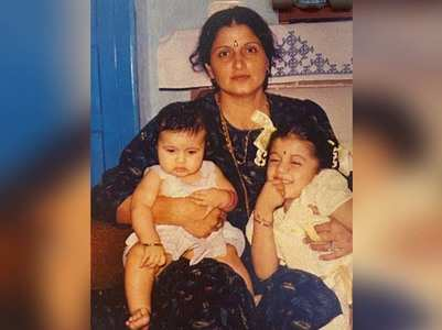 Taapsee posts a childhood pic with mom & sister