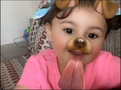 Neil posts his 'cutest puppy' Nurvi's video