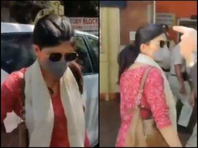 SSR case: Sanjana arrives at the police station