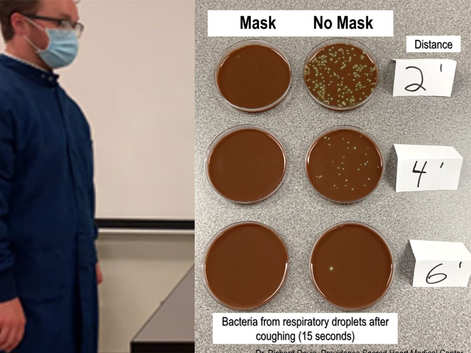 Experiment shows how masks may curb COVID-19