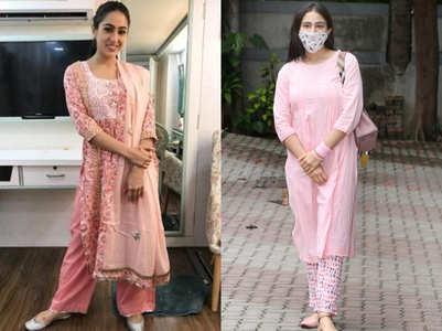 Sara proved pink salwar kameez is her fav.