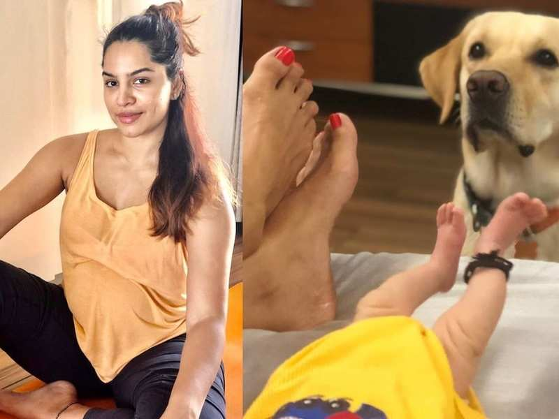New mom Shikha Singh calls her baby girl 'paw-some', shares photos of their feet with the pet