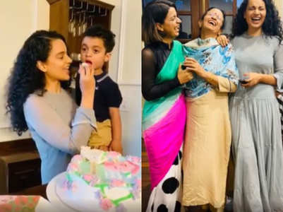 Kangana's sister hosts a house warming party