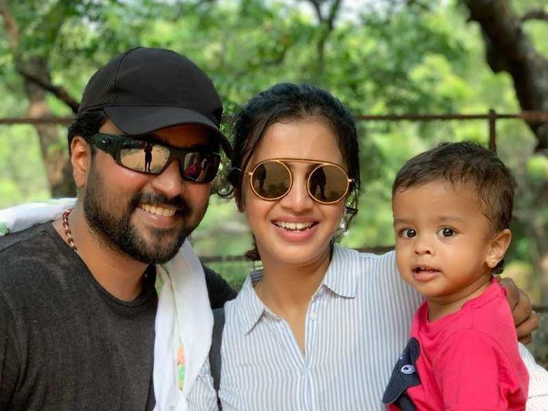 Anjana Rangan and Chandramouli celebrate son Rudraksh's birthday amid lockdown