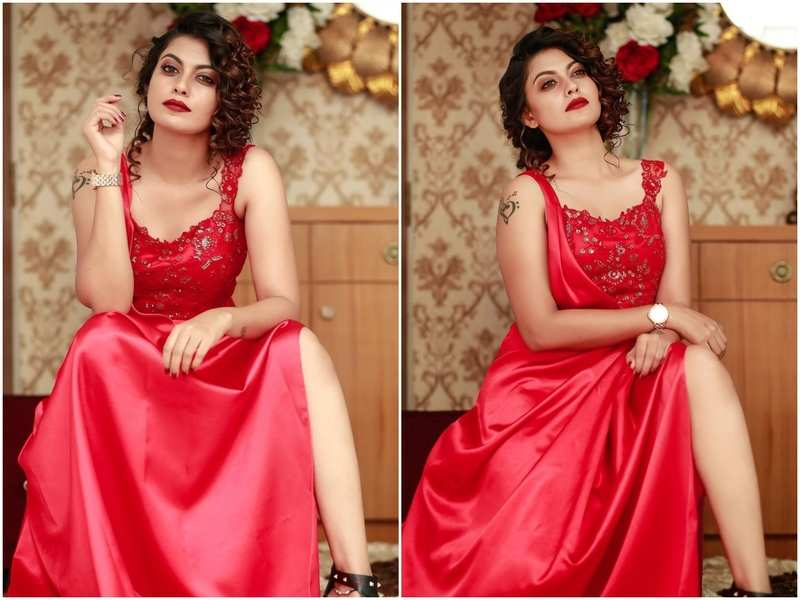 Anusree looks ravishing in red in her new post
