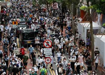 Hong Kong police make hundreds of arrests under new security law