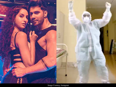 Viral Clip: Doc dances to Varun-Nora's Garmi