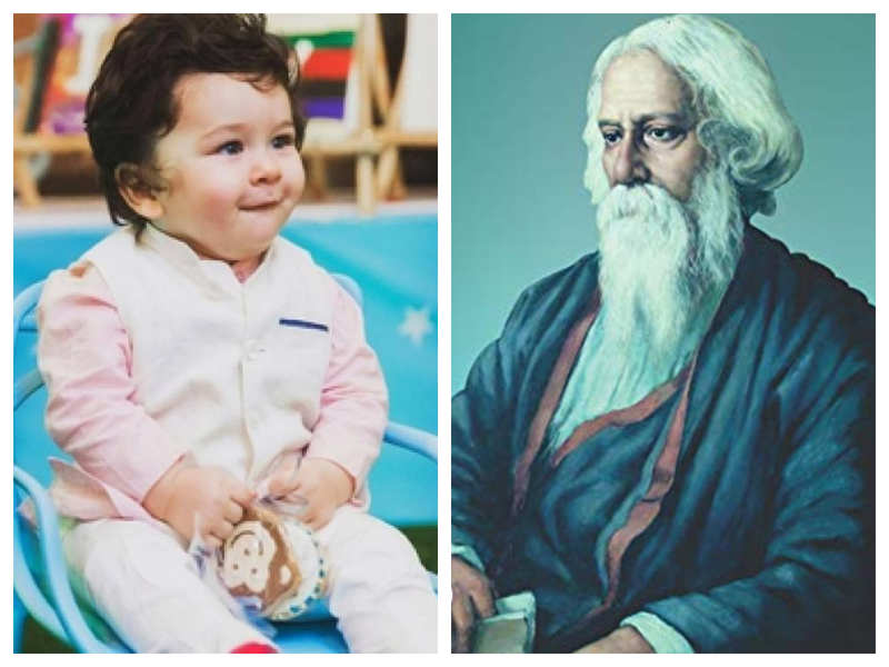 Did you know that Taimur Ali Khan is related to Nobel Laureate Rabindranath Tagore?