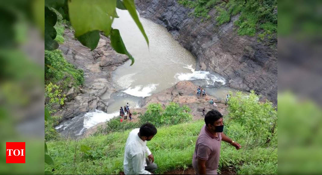 Maharashtra: Five youngsters feared drown in waterfall at Jawhar in Palghar district - Times of India