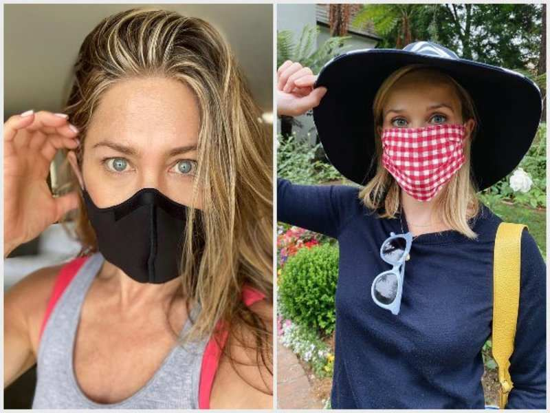 Jennifer Aniston and Kerry Washington wear masks to spread the safety message (Pics: Instagram)