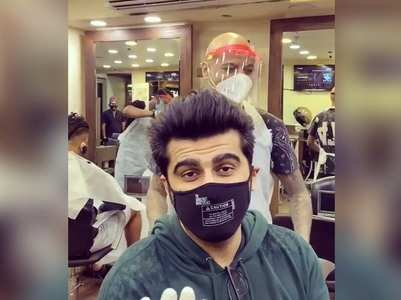 Arjun visits hair salon as lockdown is eased
