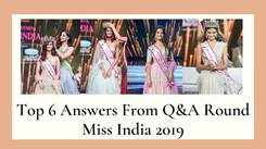 #Throwback:Miss India 2019 Top 6 Question and Answer Round