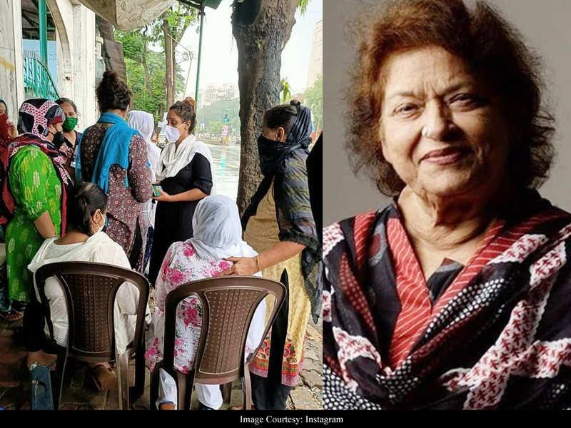 Saroj Khan's daughter, family bid a teary good-bye to the ace choreographer