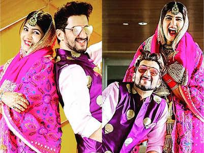 Manish, Sangeita's lockdown wedding album