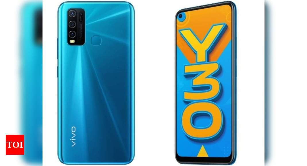 Vivo Y30 with 5000mAh battery and HD+ display launched: Price, India availability and more – Times of India