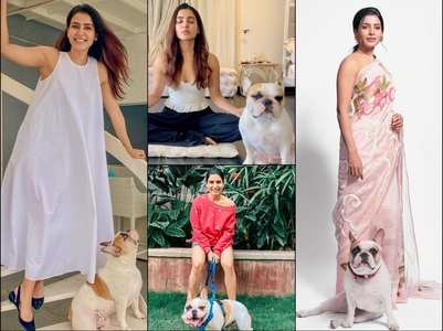 Samantha Akkineni's pictures with doggo Hash