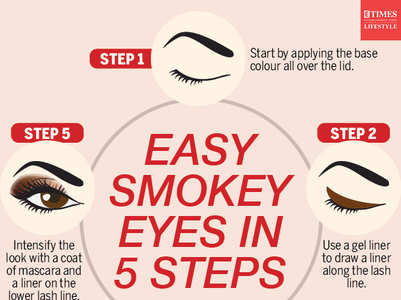 Try smokey eyes with these steps