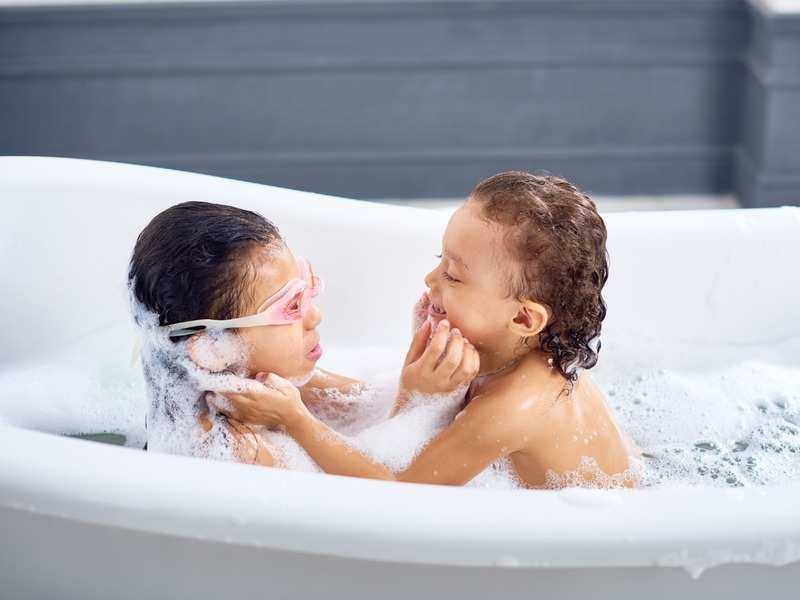What is the right age for kids to stop bathing together?